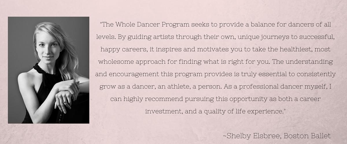 Testimonial for The Whole Dancer Program