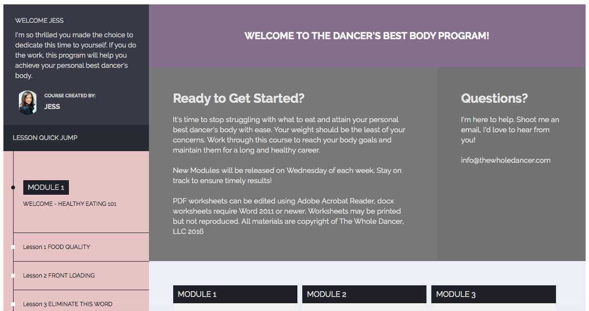 The Dancer's Best Body Program preview