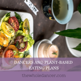 dancers and plant-based eating plans